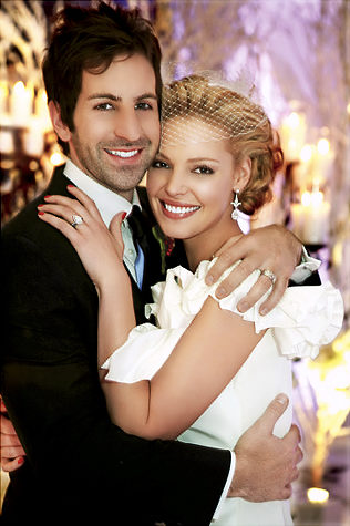 Katherine Heigl Oscar de la Renta bridal