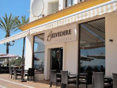 pizzeria belvedere puerto banus marbella spain costa del sol