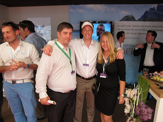 antibes yacht show 2011 party on yachtsxl stand