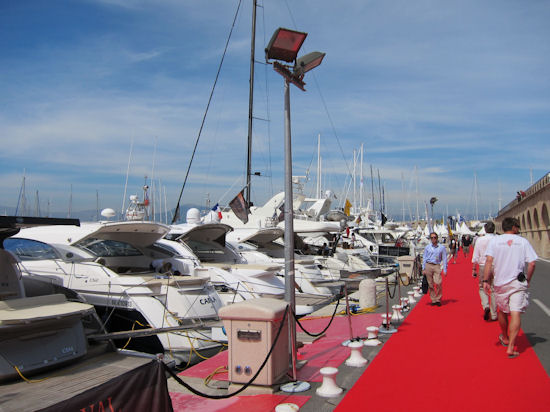 antibes yacht show red carpet