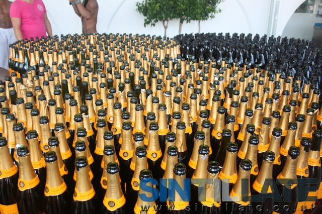 ocean club marbella champagne bottles spray party