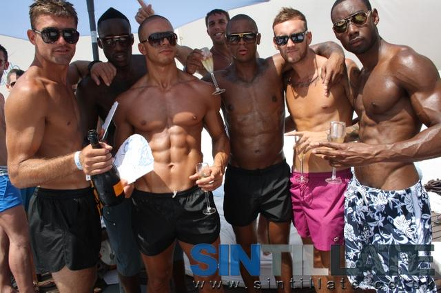 champagne spray party ocean club marbella men