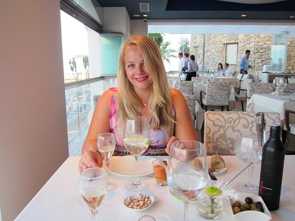 rich girl at el gran gatsby restaurant puerto banus marbella