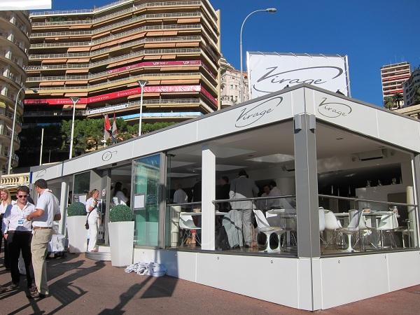 monaco yacht show 2011 virage cafe restaurant