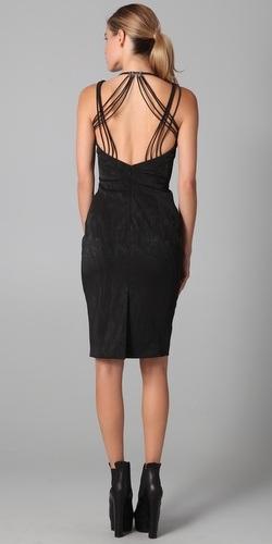 elegant backless halter black dress