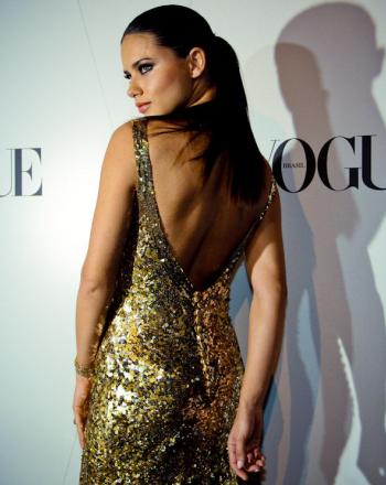 adriana lima in backless dress