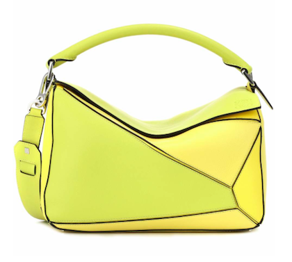 Yellow LOEWE Puzzle leather shoulder bag