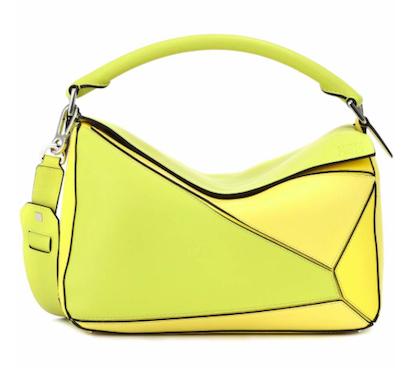 Yellow LOEWE Puzzle leather shoulder bag