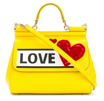 Yellow DOLCE & GABBANA Sicily tote bag