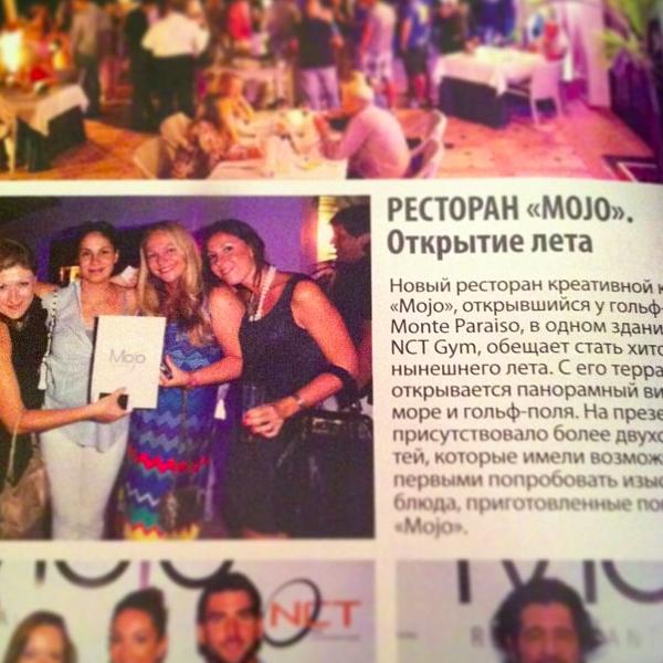 Famous Russian magazine in Marbella Mesto Vstrechi