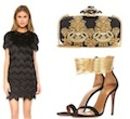 great gatsby party outfit ideas with black fringe cocktail dress