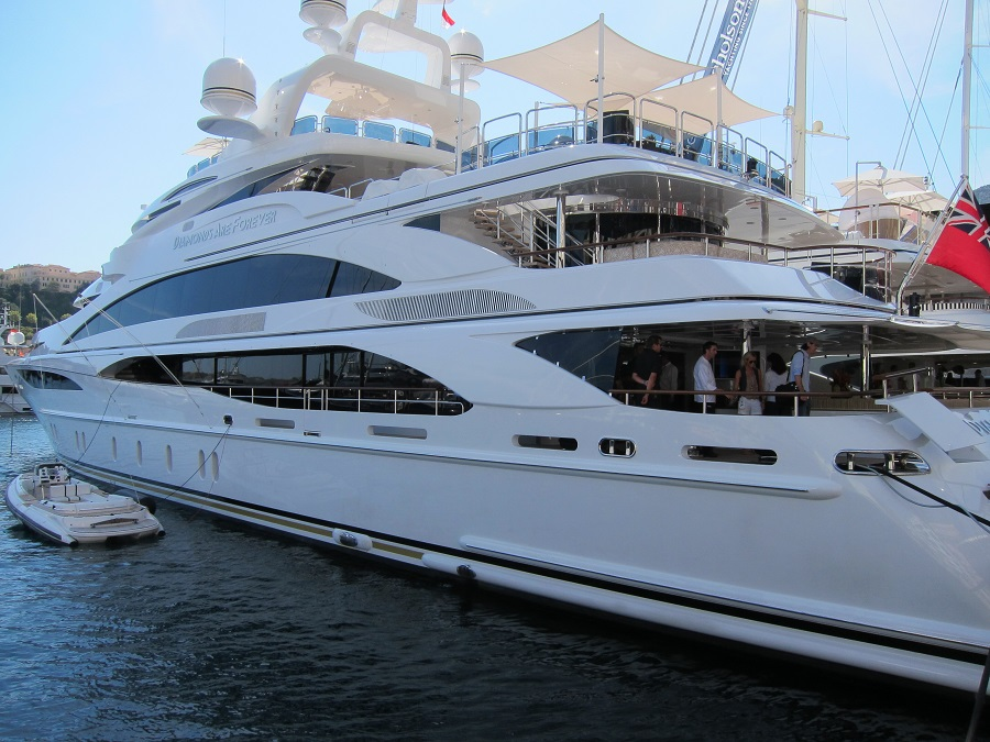 diamonds are forever superyacht in Monaco port Hercules