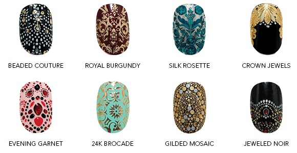 revlon 3d nail designs by Marchesa