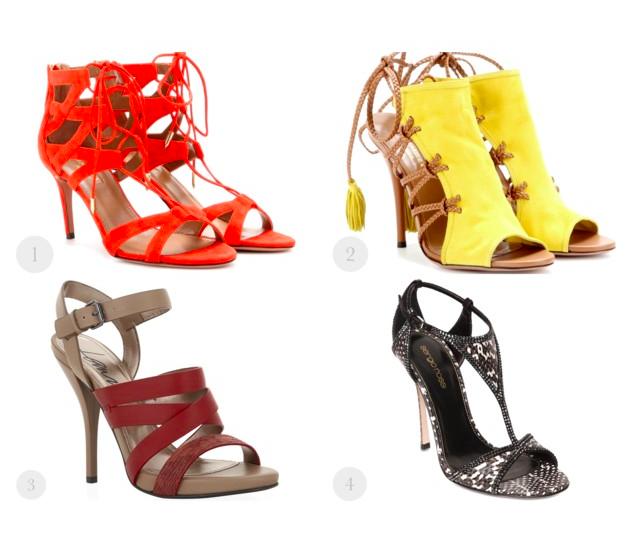bright summer sandals