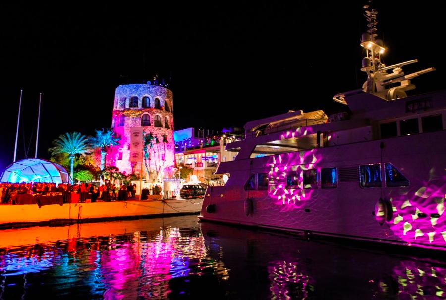 Puerto Banus by night at Marbella Luxury Weekend