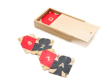 Wooden playing cards as a Christmas present idea for men