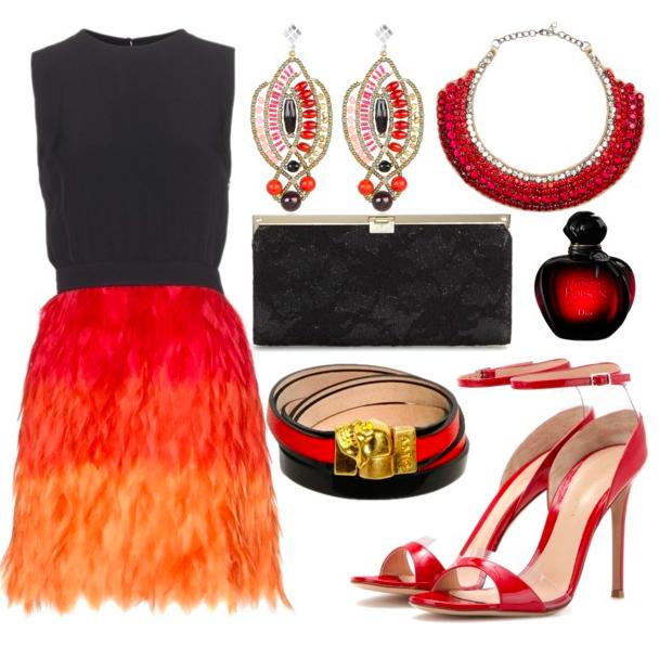 Firebird inspired festive outfit