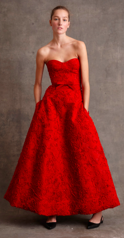 Michael Kors red evening dress chosen for Jessica Chastain