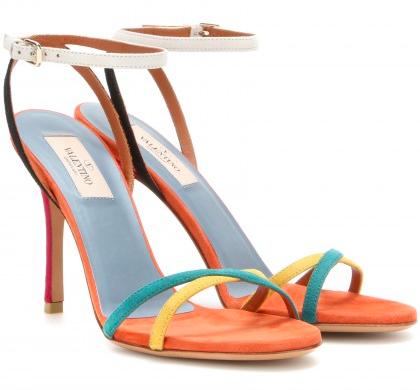 VALENTINO-Suede-sandals