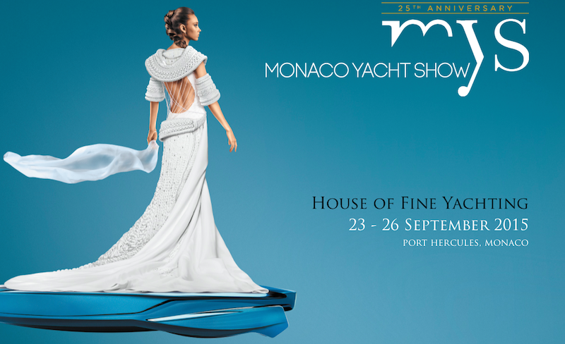 Monaco Yacht Show 2015 official luxury flyer with dates of the exhibition