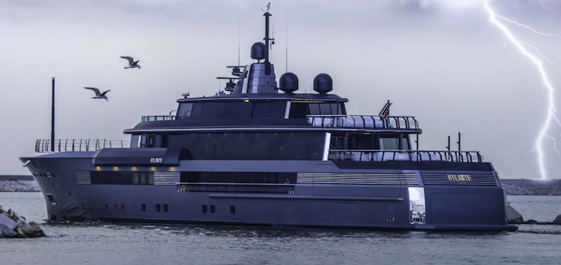 Atlante new luxury yacht on display at the Monaco yacht show 2015