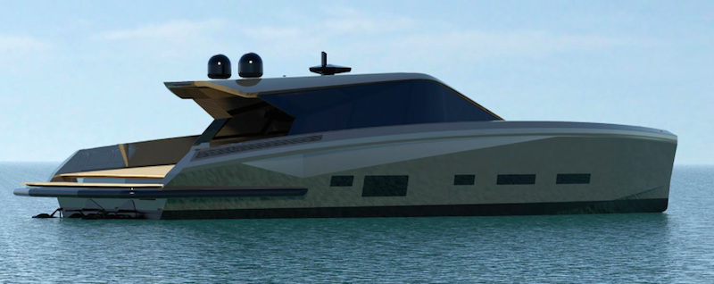 Checkmate new super luxury yacht at Monaco Yacht Show in port Hercules