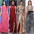 Selection of the best designer evening gowns for celebrities to wear on the red carpet