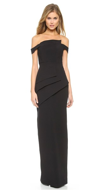Black Halo Eve La Reina Off the shoulder evening Gown