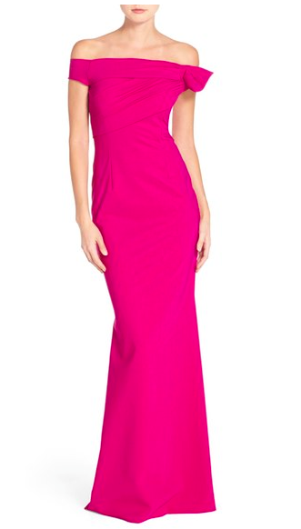 Chiara Boni La Petite Robe 'Graziella' Off the Shoulder Jersey Mermaid Gown