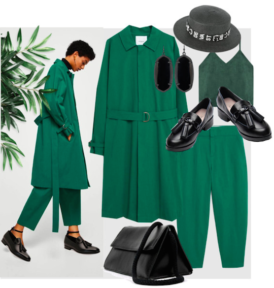 Green and black outfit idea for St. Patrick day