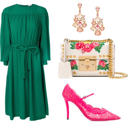 St. Patrick's Day classy cocktail party outfit