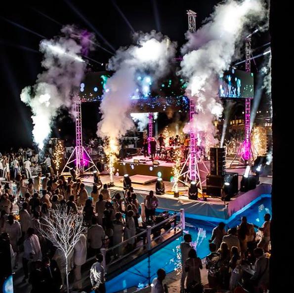 Ocean Club Marbella opening party fireworks