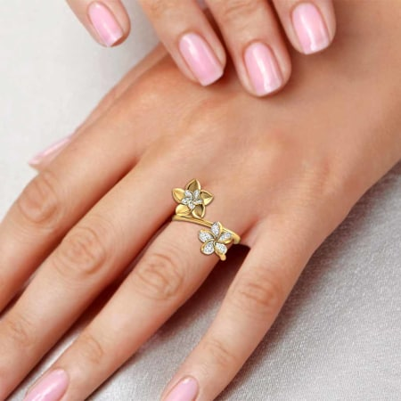 oyster fairy diamond ring yellow gold category of cocktail rings